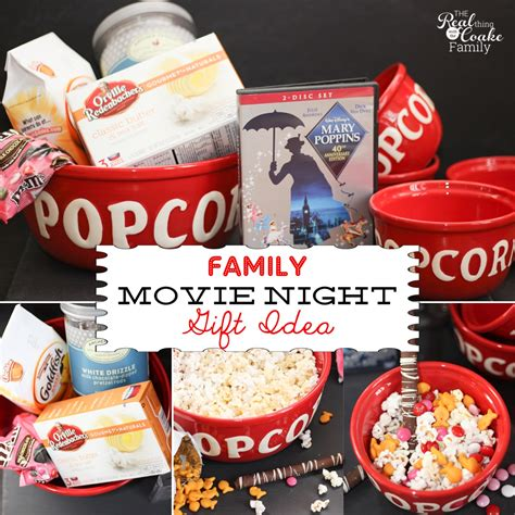 family gift ideas movie night in a box or basket