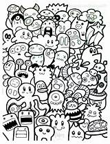Doodle Doodling sketch template