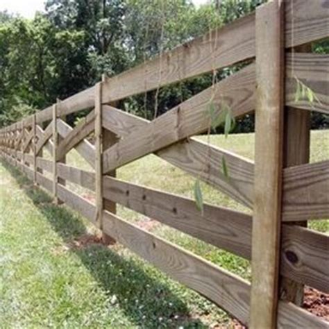 property fence option criss cross natural garden