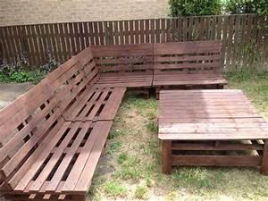 Garden Furniture Slanted Back Corner Unit Pallet