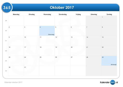 kalender oktober