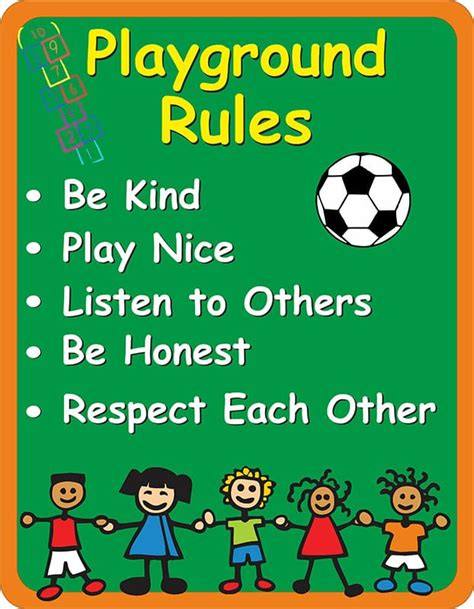 playground sign signs2schools 417 | playground rules sign 2 1547 p