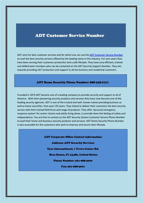 adt customer care phone number  customernumber issuu