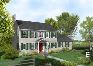 Colonial Home Colonial House Plan The Posey 317 Home Plans For Sale Original Home Plans