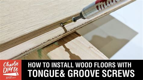 How to Install Wood Floors with Tongue & Groove (Hidden
