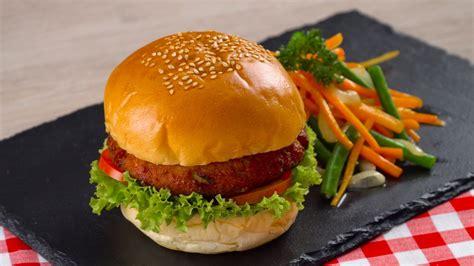 resep burger rendang tahu  sayuran masak  hari