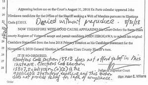 Sheriff Challenger John Hirokawa Blames Santa Clara Co ...