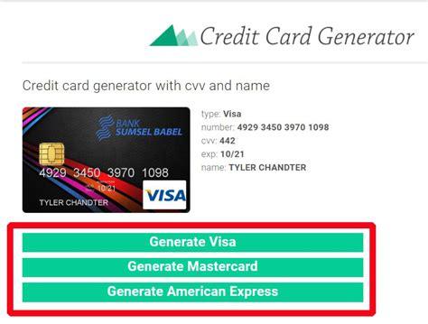 credit card generator step