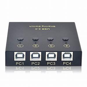 Usb2 0 Printer Sharing 4 Port Computer 2 Usb Output Manual