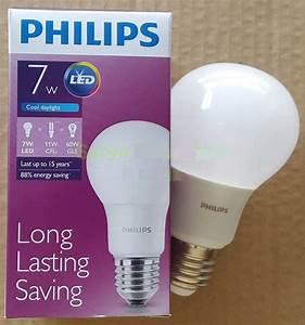 Jual Bohlam Led Philips Lamp 7 Watt   Hemat Energi