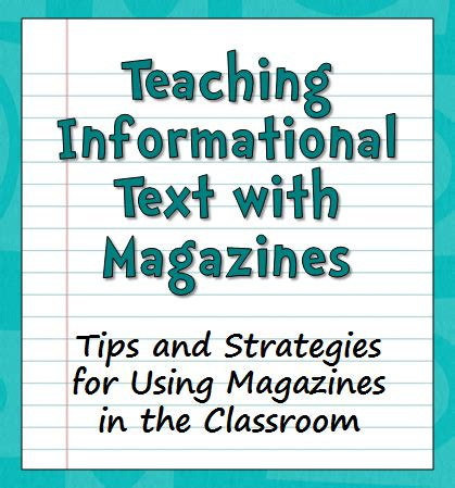 Corkboard Connections Teaching Informational Text With Magazines  Reading Strategies