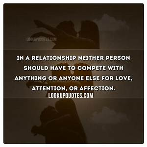 In a relationsh... Compete Love Quotes