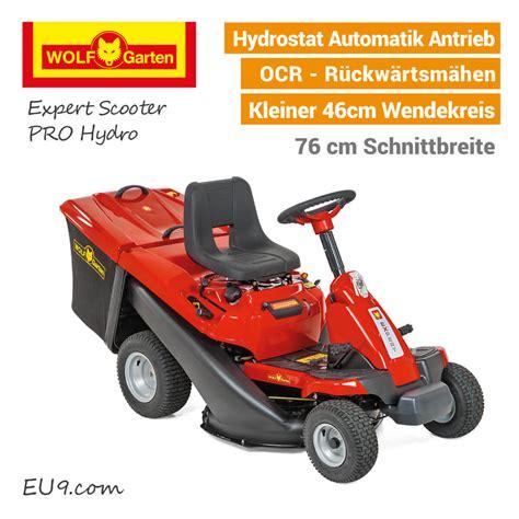 Wolfgarten Scooter Pro Hydro Aufsitzmäher Rasentraktor
