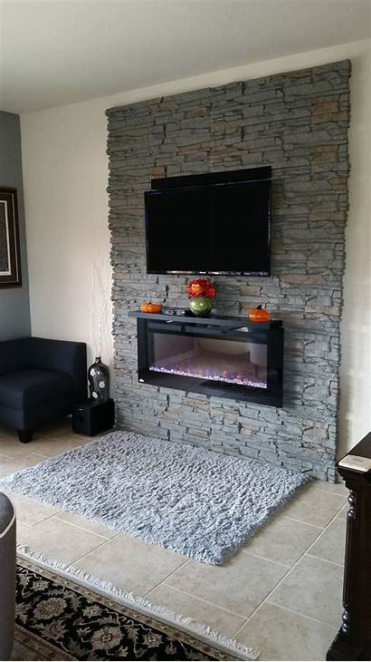 Stone Faux Decorative Genstone Fireplace Accent Walls