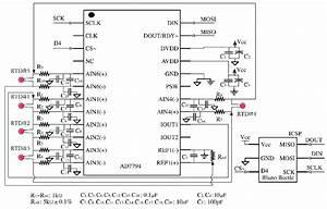 A  Circuit Diagram Of Bluetooth Temperature Sensor Module