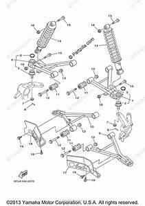 Yamaha Atv 2004 Oem Parts Diagram For Front Suspension Wheel