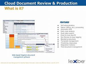 lexbe ediscovery webinar ediscovery case management for With cloud based document management reviews