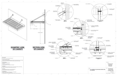 entrance overhead canopy details commercial metal canopy drawings