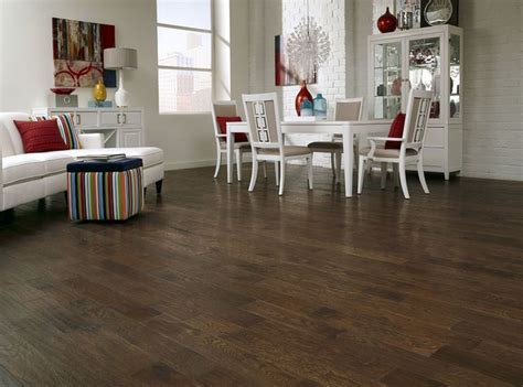 """Mountain Oak is a 5"""" wide distressed hardwood with lots of"""