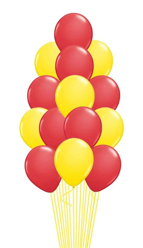 red yellow balloon bouquet  pcs  weight red yellow balloon bouquet  pcs
