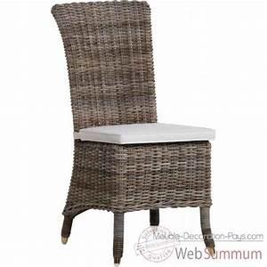 Chaise Rotin Gris : chaise am lie rotin kooboo gris sans coussin kok 1315g de meuble louisiane ~ Teatrodelosmanantiales.com Idées de Décoration