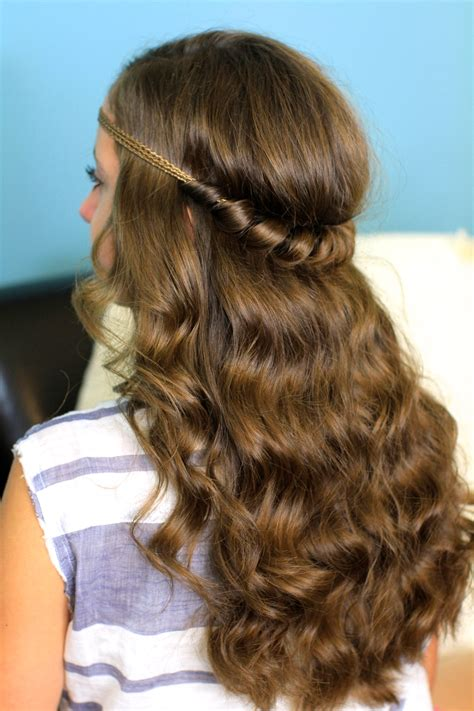headband twist     hairstyles cute girls