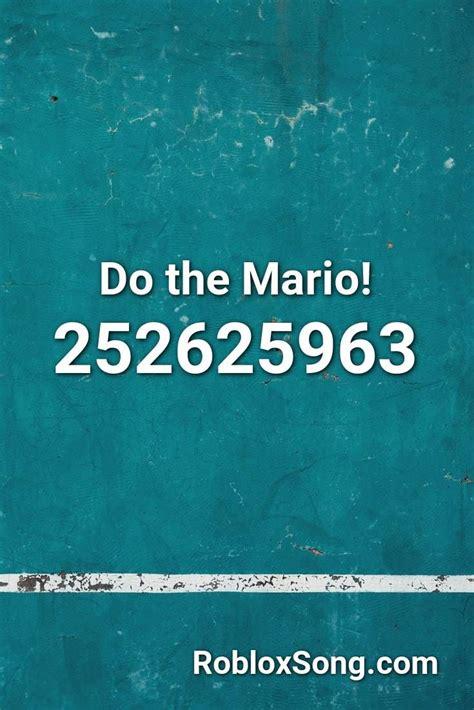 mario roblox id roblox  codes