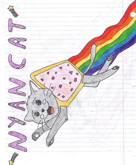 How To Draw Nyan Cat 10 Steps (with Pictures) Wikihow