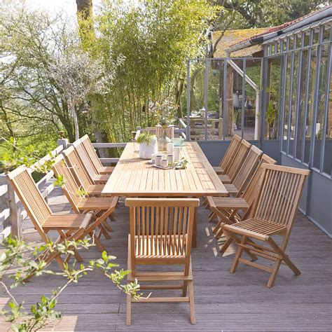outdoor rectangular table and chairs tikamoon capri rectangular teak outdoor table and chairs 200
