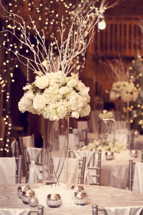 winter centerpieces tall bling wedding centerpiece with vintage lookwedwebtalks wedwebtalks