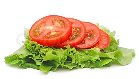 green home plans free tomato vegetable and lettuce salad isolated on white