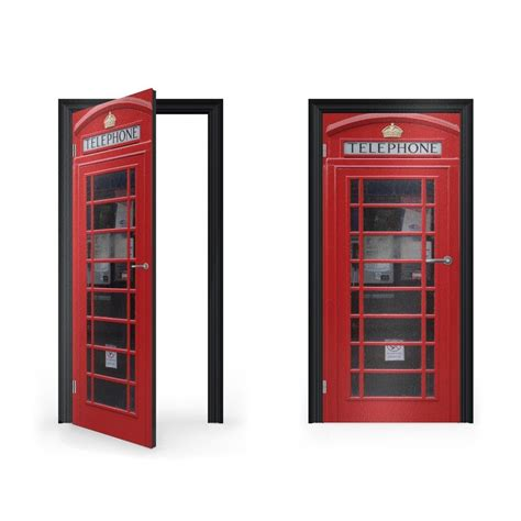 telephone box vinyl sticker for door vinyl revolution