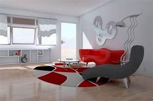 quelle peinture quelle couleur autour d39un canape rouge With couleur peinture salon zen 6 decoration salon moderne en noir pour un interieur glamour