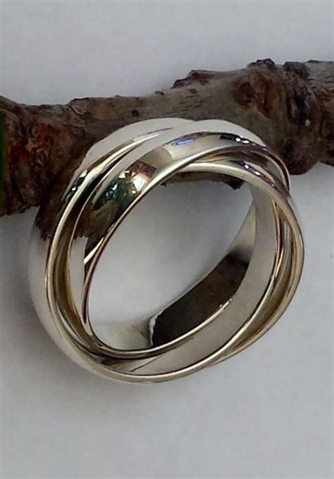 sterling silver russian wedding ring rolling ring by afrilique design