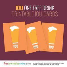 customize  food coupon template  drink ticket