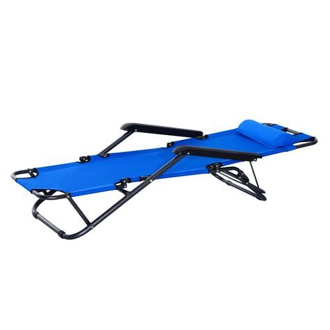 lounge chair folding portable chaise sun lounger recliner outdoor pool furniture aosom ca