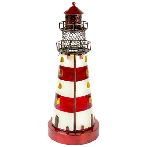 stained glass lighthouse l stained glass lighthouse red 32cm