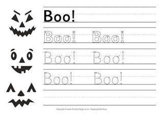 printable halloween worksheets  kids