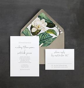 18 simple inexpensive wedding invitations the for Minimalist floral wedding invitations