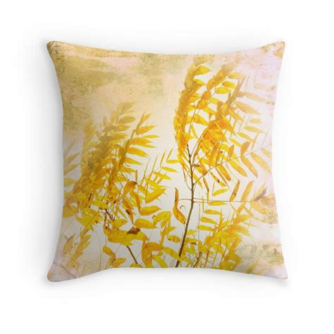 yellow branch throw pillow fiori