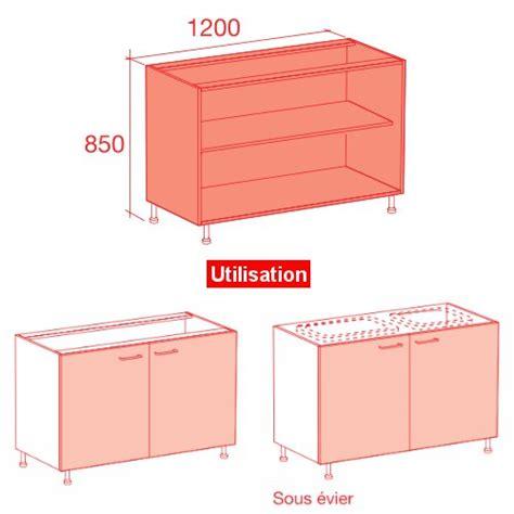 dimension caisson cuisine meuble caisson bas largeur 120 vial menuiserie
