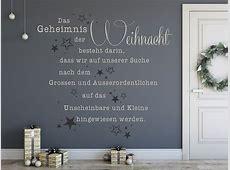Wandtattoo Das Geheimnis der Weihnacht Spruch