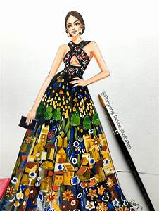 Fashion Illustration from Golden Globes — Fashion and ...
