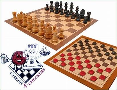 Chess Checkers Restaurant Play Pub While Menu