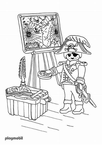 Playmobil Coloring Coloriage Pages Pirate Imprimer Secret