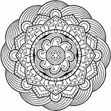 Coloring Waffle Pages Mandala Complex Getcolorings Flower sketch template