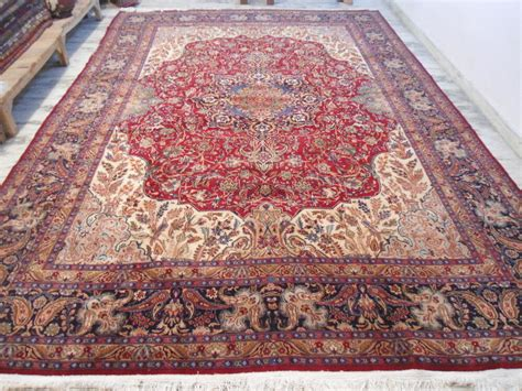 Carpet As Area Rug by 1920s Mashad Moud Large Carpet Area Rug Wool