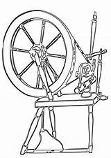 Wheel Coloring Spinning sketch template