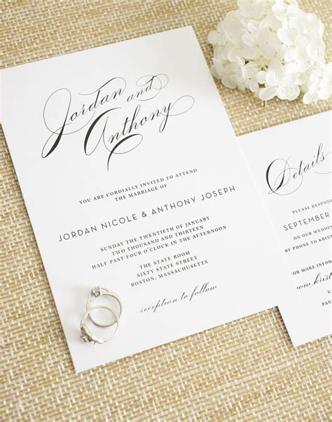 17 best ideas about elegant wedding invitations on