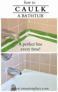 how to caulk a bathtub tutorials home and money With best caulk for bathroom tub